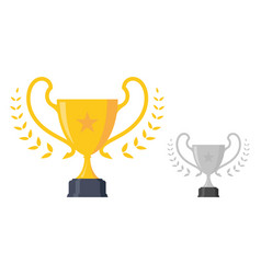 luxury trophy award vector image