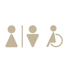 modern toilet signage has man woman baby old pe vector image