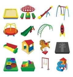 Playground cartoon icons vector