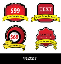 Red tag vector image