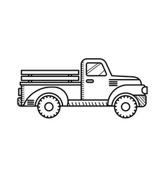 retro pickup truck coloring book for kids vector image