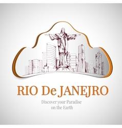 Rio de Janeiro city emblem vector image