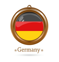 Round medallion with the german flag inside vector
