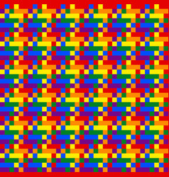 Seamless pattern in colors lgbt rainbow flag vector