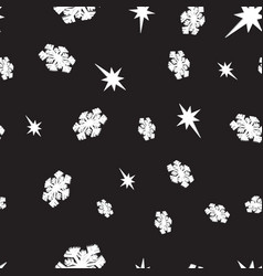 seamless snowflakes and stars background vector image