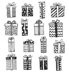 Set of Christmas or birthday ornate present vector