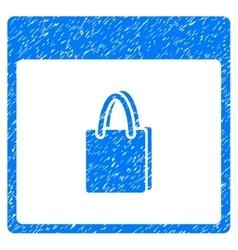 Shopping Bag Calendar Page Grainy Texture Icon vector