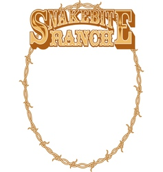 Snakebite ranch frame vector