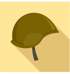 Special force helmet icon flat style vector