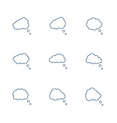 speech bubbles icon set in line style vector image