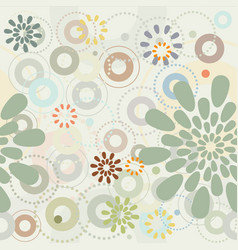 spring garden abstract flowers seamless pattern vector image