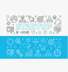 startup horizontal banners set start-up vector image