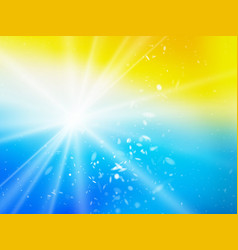 Sun rays and dust summer beach background vector