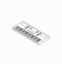 Synthesizer icon isometric 3d style vector image