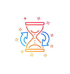 Time hourglass refresh line icon sand watch sign vector
