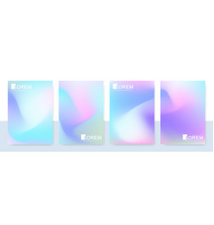 trendy abstract mockup pastel colorful gradient vector image