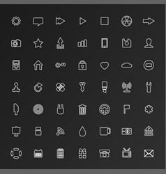 Universal flat icons for web and mobile vector