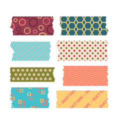 washi tape colored handmade japanese crafted vector image