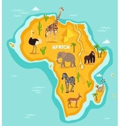African animals wildlife vector image