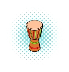 Australian ethnic drum icon comics style vector
