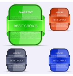 Best Choices Stickers vector image