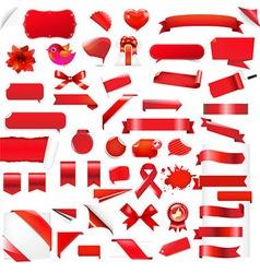 Big set red elements vector