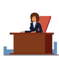 business female receptionist cartoon flat vector image