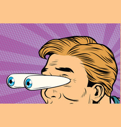 cartoon eyes popping out shock surprise look vector image