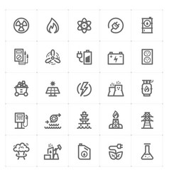 icon set - energy and power vector image