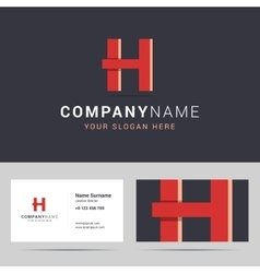 Logotype logo template and business card template vector image vector image