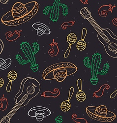 mexican seamless backround vector image