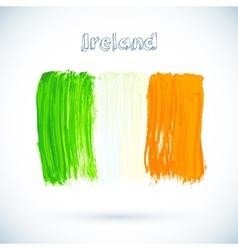 Painted Irish flag vector image vector image