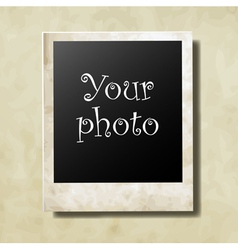 Photo card vector image
