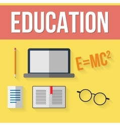 Set of education elements vector image vector image