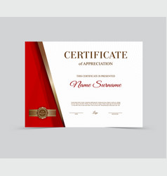 template certificate of appreciation vector image vector image