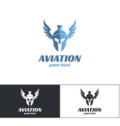 aviation logo design two vector image vector image