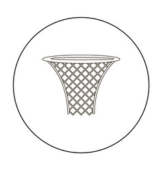 basketball hoop icon outline single sport icon vector image vector image