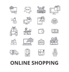 buy online shopping internet store ecommerce vector image vector image
