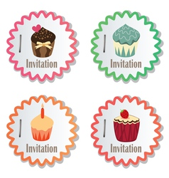 cupcakes vector image vector image