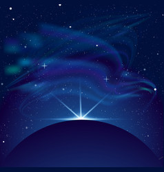 eclipse planet in space in vector image