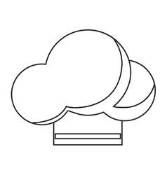 Isolated chefs hat design vector