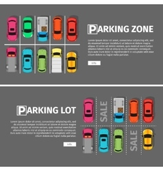 Parking Lon and Zone Top View vector image vector image