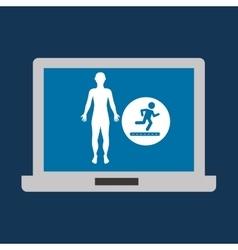 silhouette man fitness running vector image