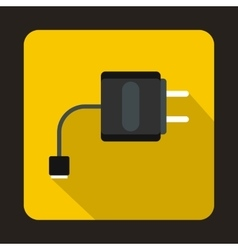 Usb cable for electronic cigarette icon flat style vector