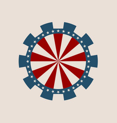 cog wheel with usa flag elements vector image vector image