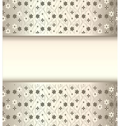 background frame with flowers of silk with metal l vector image