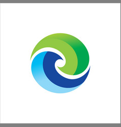 circle round colored logo vector image vector image