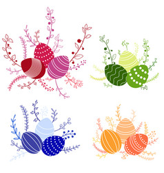 easter compositions vector image