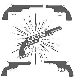 Gun Club Design Elements vector image