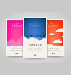 modern colorful vertical cloud banners cloudy vector image vector image